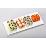 6 PIECES SPRING ROLL SAUMON AVOCAT, 6 PIECES  SALMON ROLL, 3 SUSHI SAUMON ,6 PIECES CALIFORNIA SAUMON AVOCAT